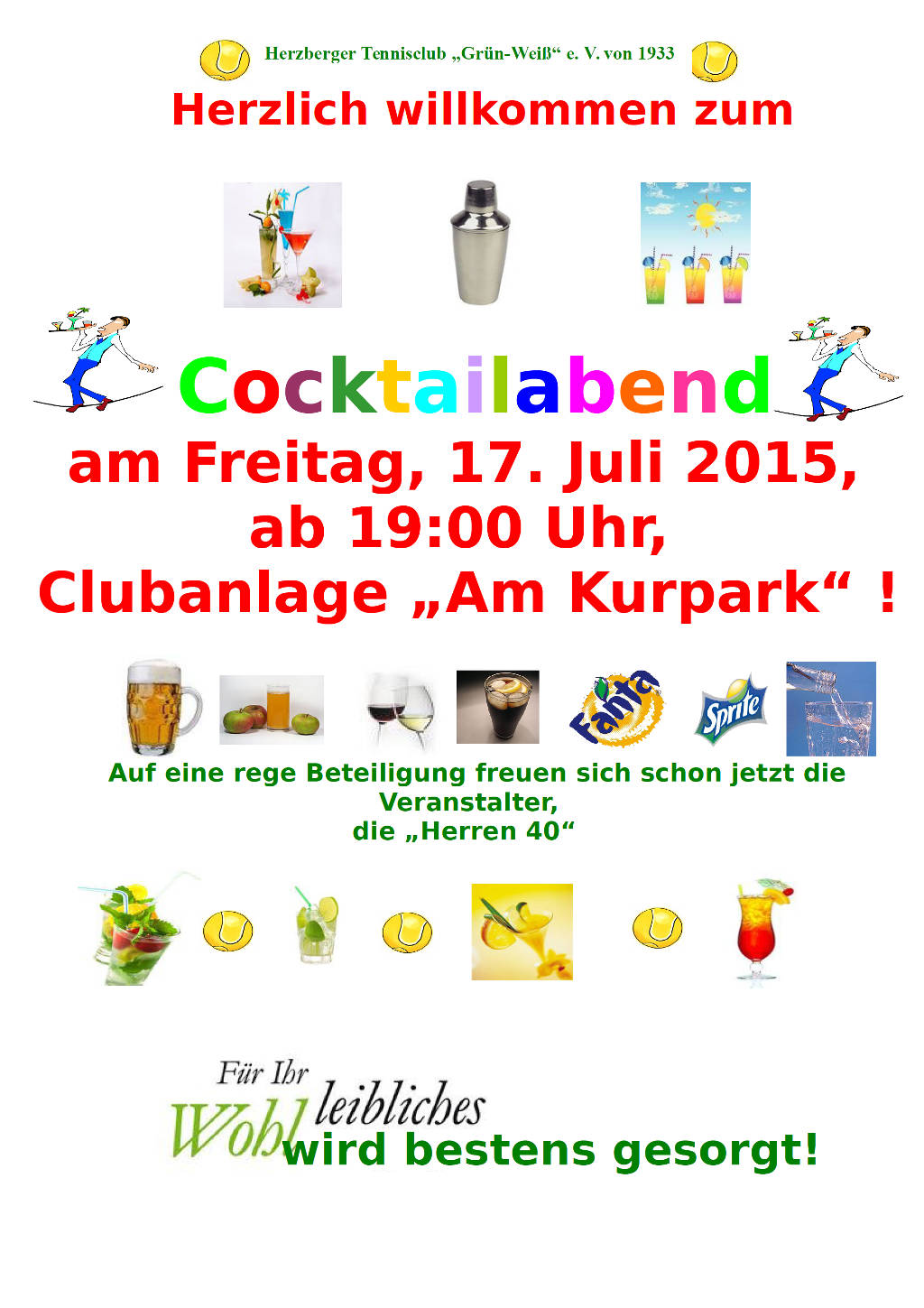Cocktailabend Plakat 2015